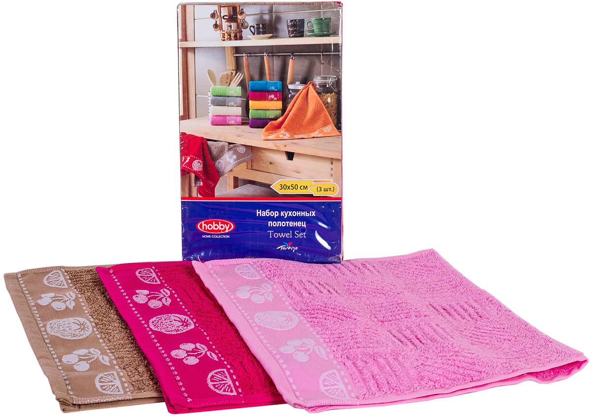 Полотенце махровое Hobby Home Collection Meyve Bahcesi, цвет: фуксия, розовый, коричневый, 30х50 см, 3 шт1501000518Полотенца марки Хобби уникальны и разрабатываются эксклюзивно для данной марки. При создании коллекции используются самые высокотехнологичные ткацкие приемы. Дизайнеры марки украшают вещи изысканным декором. Коллекция линии соответствует актуальным тенденциям, диктуемым мировыми подиумами и модой в области домашнего текстиля.