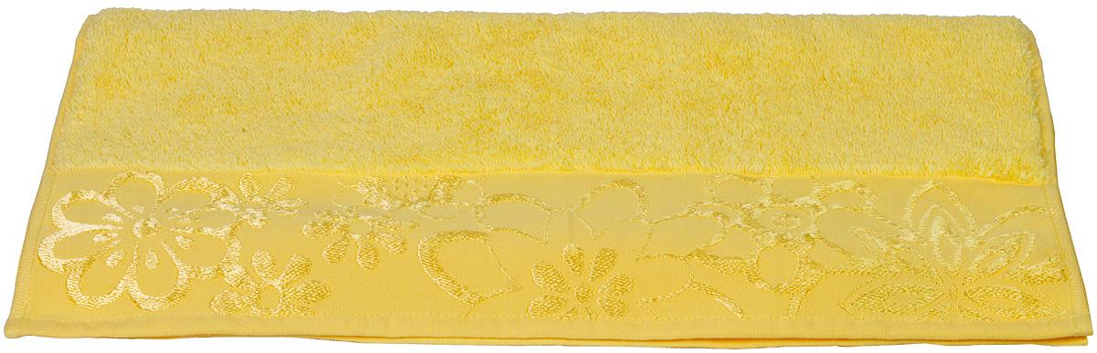 Полотенце Hobby Home Collection Dora, цвет: желтый, 30 х 50 см1501000754Полотенце Hobby Home Collection Dora выполнено из 100% хлопка. Изделие отлично впитывает влагу, быстро сохнет, сохраняет яркость цвета и не теряет форму даже после многократных стирок. Такое полотенце очень практично и неприхотливо в уходе. А простой, но стильный дизайн полотенца позволит ему вписаться даже в классический интерьер ванной комнаты.