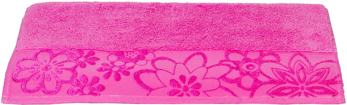 Полотенце Hobby Home Collection Dora, цвет: темно-розовый, 30 х 50 см1501000759Полотенце Hobby Home Collection Dora выполнено из 100% хлопка. Изделие отлично впитывает влагу, быстро сохнет, сохраняет яркость цвета и не теряет форму даже после многократных стирок. Такое полотенце очень практично и неприхотливо в уходе. А простой, но стильный дизайн полотенца позволит ему вписаться даже в классический интерьер ванной комнаты.