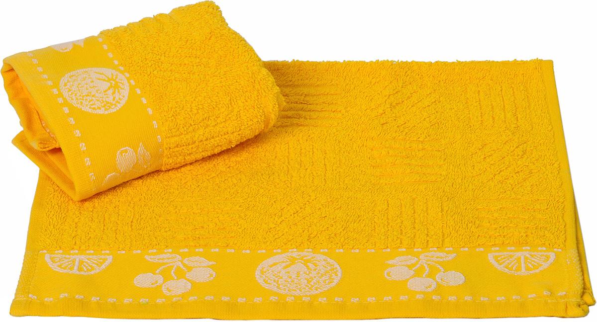 """Полотенце кухонное Hobby Home Collection """"Meyve Bahcesi"""", цвет: желтый, 30 х 30 см"""