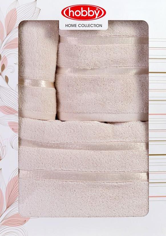 Полотенце махровое Hobby Home Collection Dolce, цвет: светло-желтый, 30х50 см, 50х90 см, 70х140 см, 3 шт1501001211Полотенца марки Хобби уникальны и разрабатываются эксклюзивно для данной марки. При создании коллекции используются самые высокотехнологичные ткацкие приемы. Дизайнеры марки украшают вещи изысканным декором. Коллекция линии соответствует актуальным тенденциям, диктуемым мировыми подиумами и модой в области домашнего текстиля.