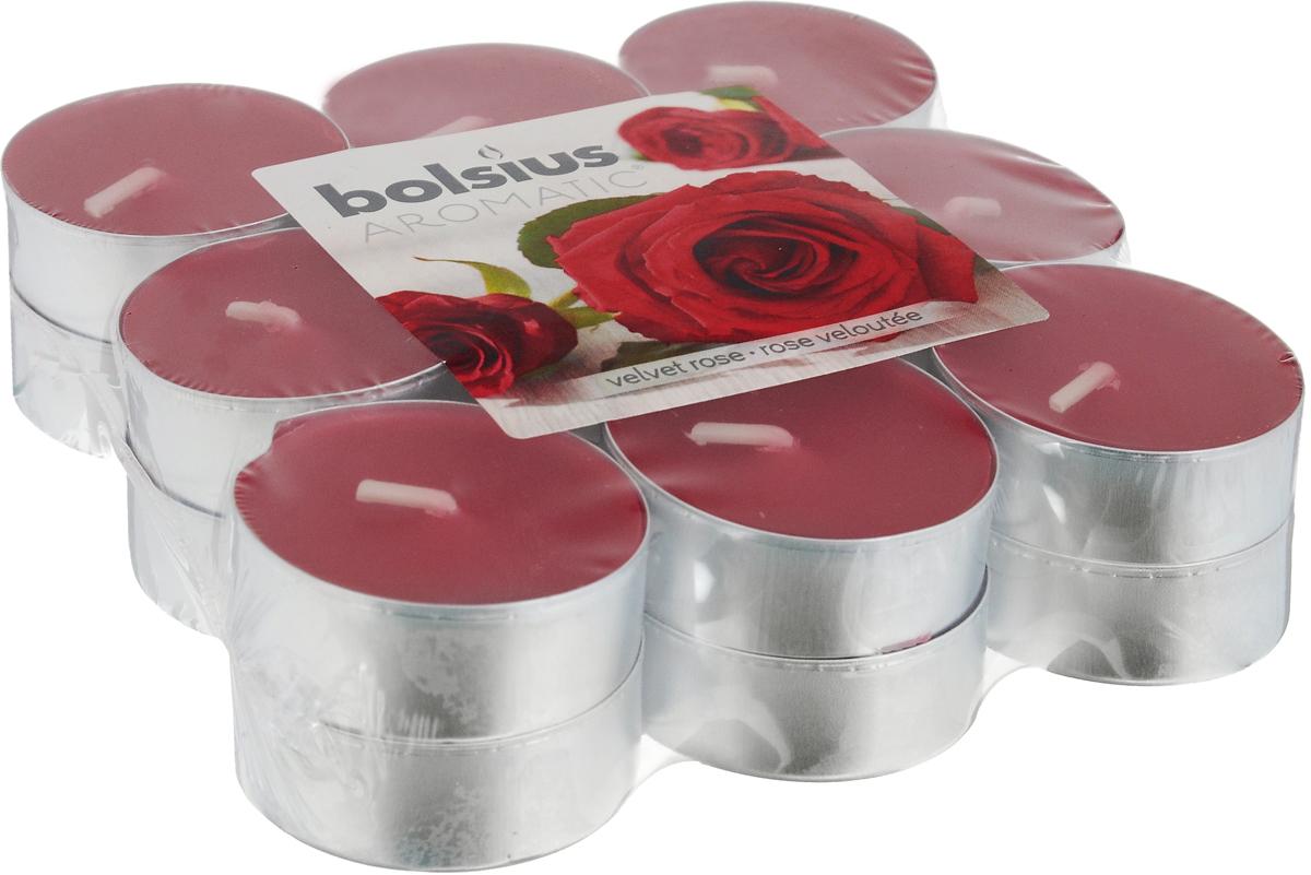 Свеча ароматическая чайная Bolsius Роза, 18 шт103626949381Свеча ароматическая Bolsius Роза создаст в доме атмосферу тепла и уюта. Чайная свеча в металлической подставке приятно смотрится в интерьере, она безопасна и удобна в использовании. Свеча создаст приятное мерцание, а сладкий манящий аромат окутает вас и подарит приятные ощущения. Время горения: 4 ч.