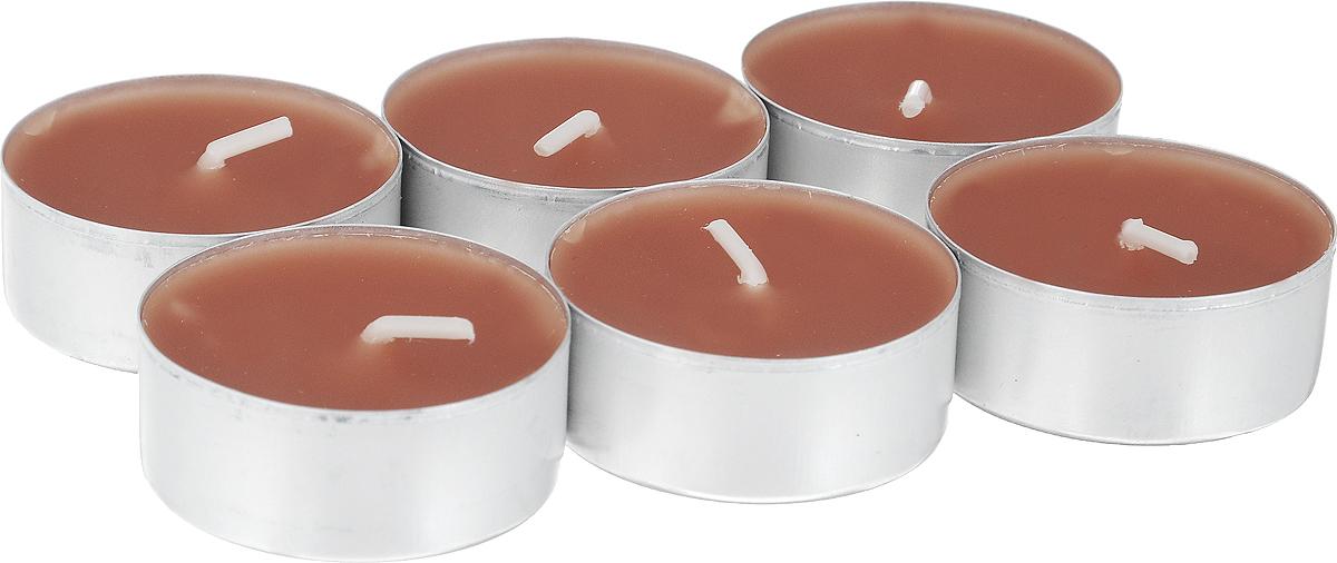 Свеча ароматическая чайная Bolsius Пряность, 6 шт103626941587Свеча ароматическая Bolsius Пряность создаст в доме атмосферу тепла и уюта. Чайная свеча в металлической подставке приятно смотрится в интерьере, она безопасна и удобна в использовании. Свеча создаст приятное мерцание, а сладкий манящий аромат окутает вас и подарит приятные ощущения. Время горения: 4 ч.