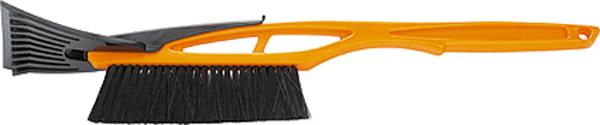 Щетка для снега Sparta, со скребком, 55 см552935Корпус щетки изготовлен из ударопрочной пластмассы. Ручка специальной формы, оснащена скребком для льда. Щетина средней жесткости.