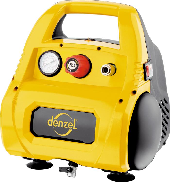 """Автомобильный компрессор """"Denzel"""", воздушный, безмасляный РС 1/6-180, 1,1 кВт, 180 л/мин, 6 л 58057"""