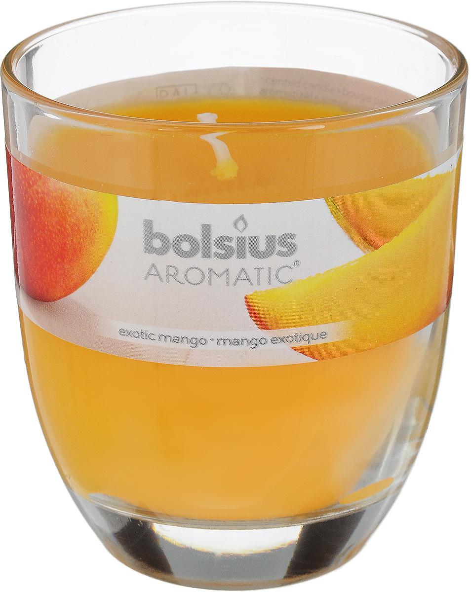 Свеча ароматическая Bolsius Манго, 7 х 7 х 8 см103626150310Ароматизированная свеча Bolsius Манго изготовлена из воска и поставляется в подсвечнике в виде стеклянного стакана. Изделие отличается оригинальным дизайном и приятным ароматом. Такая свеча может стать отличным подарком или дополнить интерьер вашей комнаты.