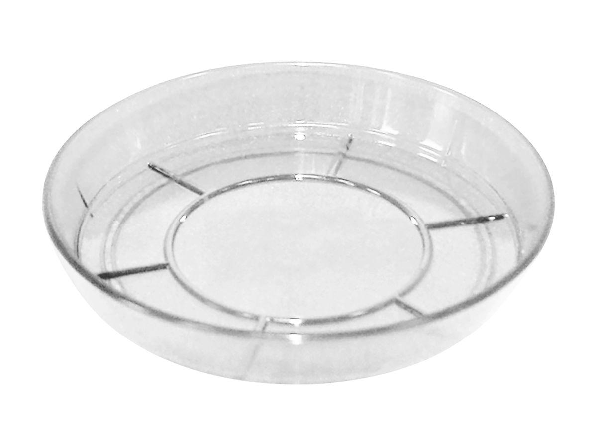 Поддон JetPlast Шарм, цвет: прозрачный, диаметр 12 см4612754050253