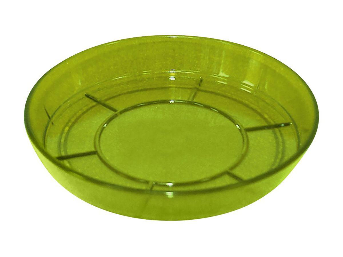 Поддон JetPlast Шарм, цвет: зеленый, диаметр 15 см4612754050970