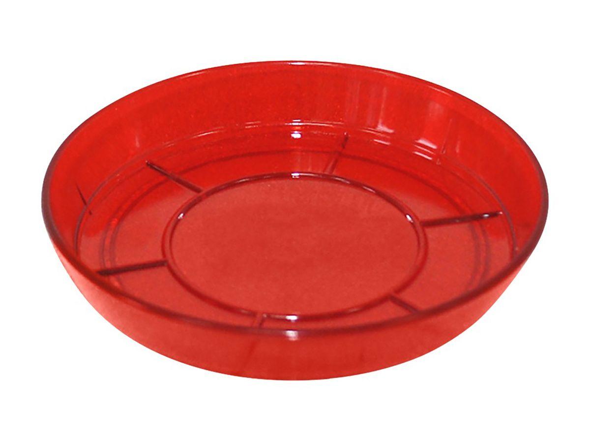 Поддон JetPlast Шарм, цвет: красный, диаметр 10 см4612754051496