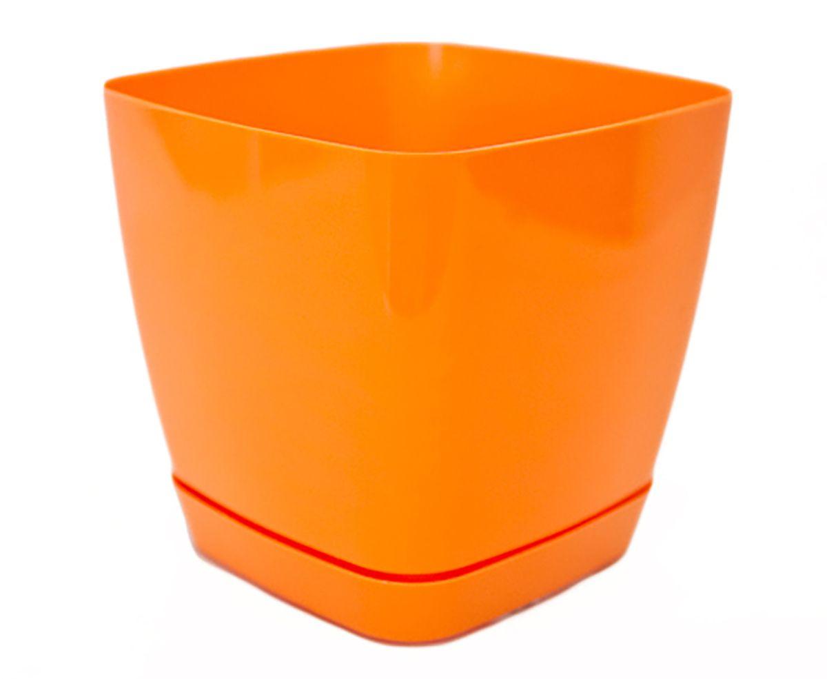 Горшок для цветов Form-Plastic Тоскана, с поддоном, цвет: оранжевый, 1,7 л5907474330440При производстве серии Тоскана поверхность горшков приобретает приятный глянцевый отлив. Особая форма поддона продолжает минималистичный дизайн горшка, а специальные крепежи обеспечивают его надежное крепление.