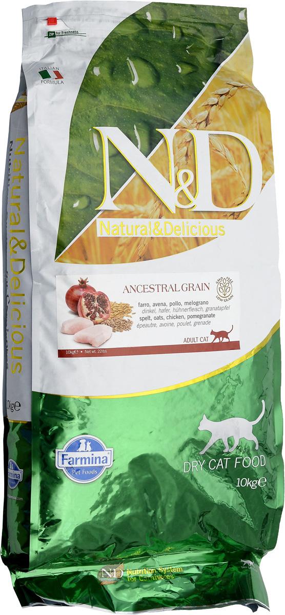 Корм сухой для взрослых кошек Farmina N&D, низкозерновой, с курицей и гранатом, 10 кг24909Сухой корм Farmina N&D является низкозерновым полноценным питанием для взрослых кошек. Изделие имеет высокое содержание витаминов и питательных веществ. Сухой корм содержит натуральные компоненты, которые необходимы для полноценного и здорового питания домашних животных. Товар сертифицирован.