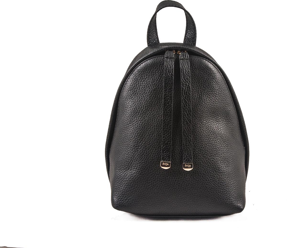 Рюкзак женский Frija, цвет: чёрный. 21-0347-BD21-0347-BDМодная сумка-рюкзак выполнен из натуральной кожи достойно дополнит строгий или повседневный образ. Благородные цвета, удобство в ношении, вместительность – главные преимущества модели.один вместительный отдел внутри которого карман на молнии. Сумка-рюкзак закрывается закрывается на двустороннюю молнию, носится в руке или одевается на плечи. Хорошо держит форму.