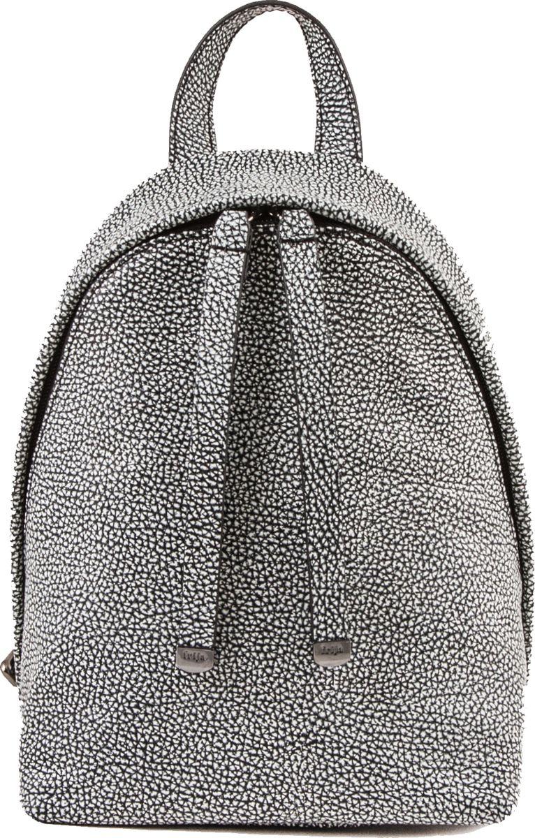 Рюкзак женский Frija, цвет: черный, белый. 21-0347-BD21-0347-BDМодная сумка-рюкзак выполнен из натуральной кожи достойно дополнит строгий или повседневный образ. Благородные цвета, удобство в ношении, вместительность – главные преимущества модели.один вместительный отдел внутри которого карман на молнии. Сумка-рюкзак закрывается закрывается на двустороннюю молнию, носится в руке или одевается на плечи. Хорошо держит форму.