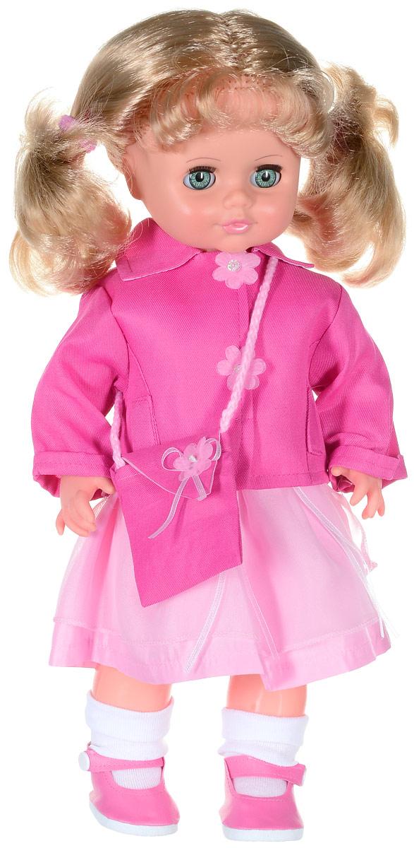 Весна Кукла озвученная Инна цвет одежды розовый светло-розовыйВ1414/оУ милой куклы Инны яркие изумрудные глаза и прелестные золотистые хвостики. На кукле надето шелковое платьице, розовый жакет с пуговками-цветами, белые носочки и туфельки. Комплект дополняют тканевая сумочка через плечо и розовые резиночки для волос. У Инны закрываются глазки, она умеет разговаривать. При нажатии на звуковое устройство, вставленное в спинку, кукла произносит различные фразы. Очаровательная кукла покорит сердце любой девочки! Обаятельный внешний вид и прелестная одежда вызывают только самые добрые и положительные эмоции. Кукла отличается высоким качеством, проработанностью деталей и гармоничными пропорциями тела. У Инны густые мягкие волосы, которые можно расчесывать и заплетать, как только захочется. Игра с очаровательными куклами поможет развить мелкую моторику, а возможность менять костюмчики и прически сформирует эстетический вкус. Милая игрушка станет лучшей подружкой для девочки и научит ребенка доброте и заботе о других. Для...