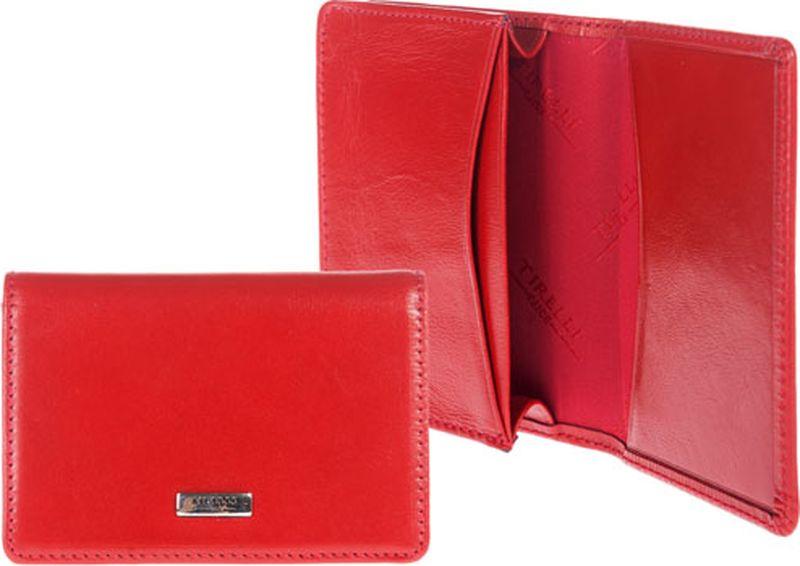 Визитница женская Tirelli, цвет: красный. 15-301-0615-301-06Футляр для собственных визиток Tirelli изготовлен из натуральной кожи. Футляр оформлен фирменным логотипом. Внутри имеется 1 объемное отделение для собственных визиток и 2 прорезных кармашка. Такой футляр не только поможет сохранить внешний вид ваших визиток и защитит их от повреждений, но и станет ярким аксессуаром, который подчеркнет ваш образ.