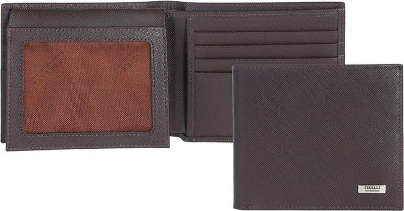 Портмоне мужское Tirelli, цвет: коричневый. 15-306-0315-306-03Компактное мужское портмоне Tirelli изготовлено из натуральной кожи. Портмоне оформлено фирменным логотипом. Внутри имеется 2 отделения для купюр, 8 прорезных карманов для хранения пластиковых карт, визиток, дисконтных карт и т. п., 2 кармашка под сетчатой тканью и 2 потайных кармашка. Такое портмоне не только поможет сохранить внешний вид ваших документов и защитит их от повреждений, но и станет ярким аксессуаром, который подчеркнет ваш образ.