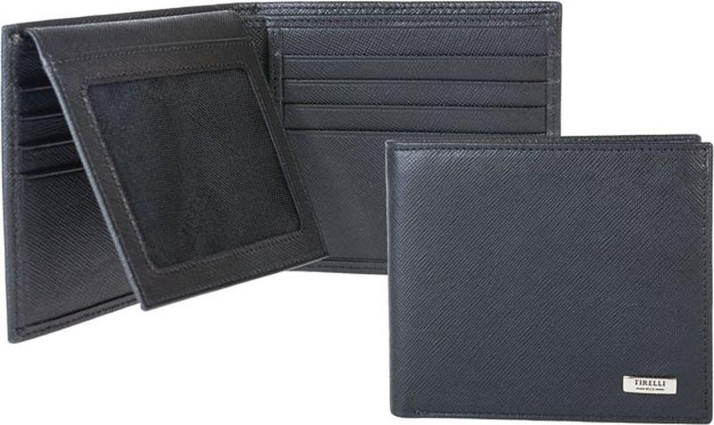 Портмоне мужское Tirelli, цвет: черный. 15-306-0415-306-04Компактное мужское портмоне Tirelli изготовлено из натуральной кожи. Портмоне оформлено фирменным логотипом. Внутри имеется 2 отделения для купюр, 8 прорезных карманов для хранения пластиковых карт, визиток, дисконтных карт и т. п., 2 кармашка под сетчатой тканью и 2 потайных кармашка. Такое портмоне не только поможет сохранить внешний вид ваших документов и защитит их от повреждений, но и станет ярким аксессуаром, который подчеркнет ваш образ.