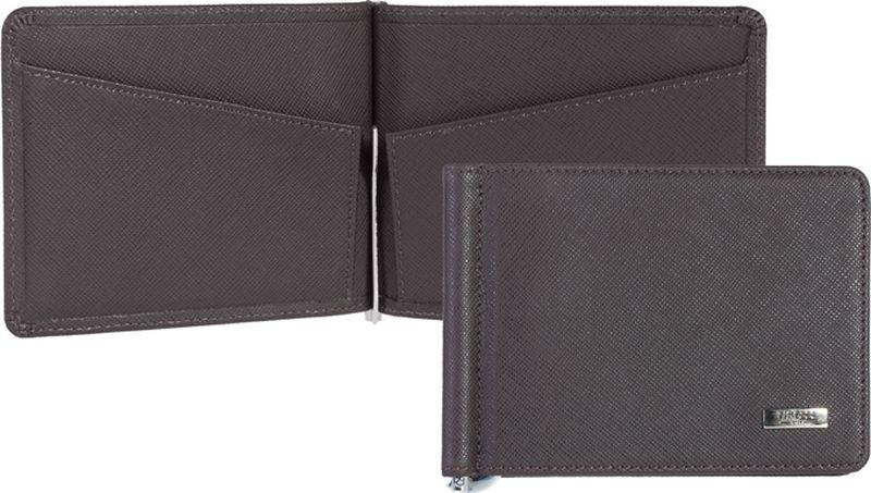 Зажим для денежных банкнот женский Tirelli, цвет: коричневый. 15-309-0315-309-03Стильный зажим для денег Tirelli выполнен из натуральной кожи. Внутри имеются два кармана для пластиковых карт и визиток, а также металлический зажим для купюр. Этот аксессуар станет замечательным подарком человеку, ценящему качественные и практичные вещи.