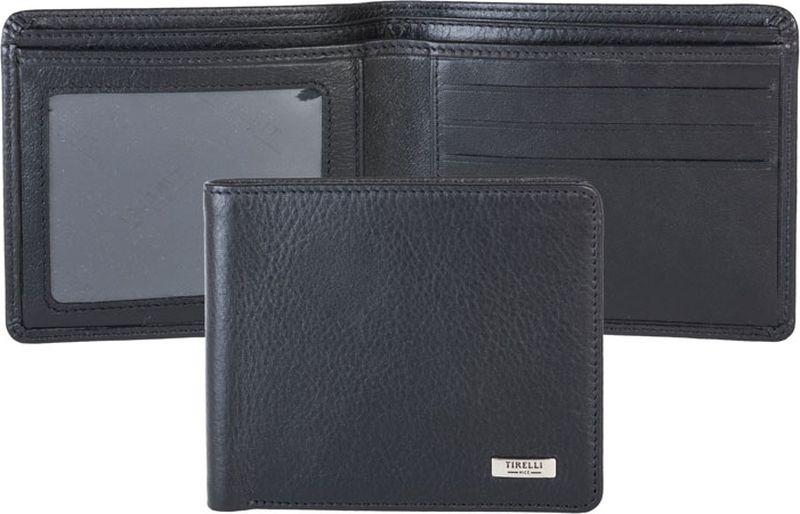 Портмоне мужское Tirelli, цвет: черный. 15-315-0715-315-07