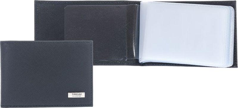 Футляр для карточек Tirelli Виктория, цвет: черный. 15-325-0415-325-04Футляр для карточек Tirelli Виктория изготовлен из натуральной кожи черного цвета с рельефной текстурой. Футляр оформлен фирменным логотипом. Внутри имеется 10 двусторонних кармашков из прозрачного пластика для хранения пластиковых карт, визиток, дисконтных карт и т. п. Такой футляр не только поможет сохранить внешний вид ваших документов и защитит их от повреждений, но и станет ярким аксессуаром, который подчеркнет ваш образ. Изделие упаковано в подарочную коробку синего цвета с логотипом фирмы Tirelli.