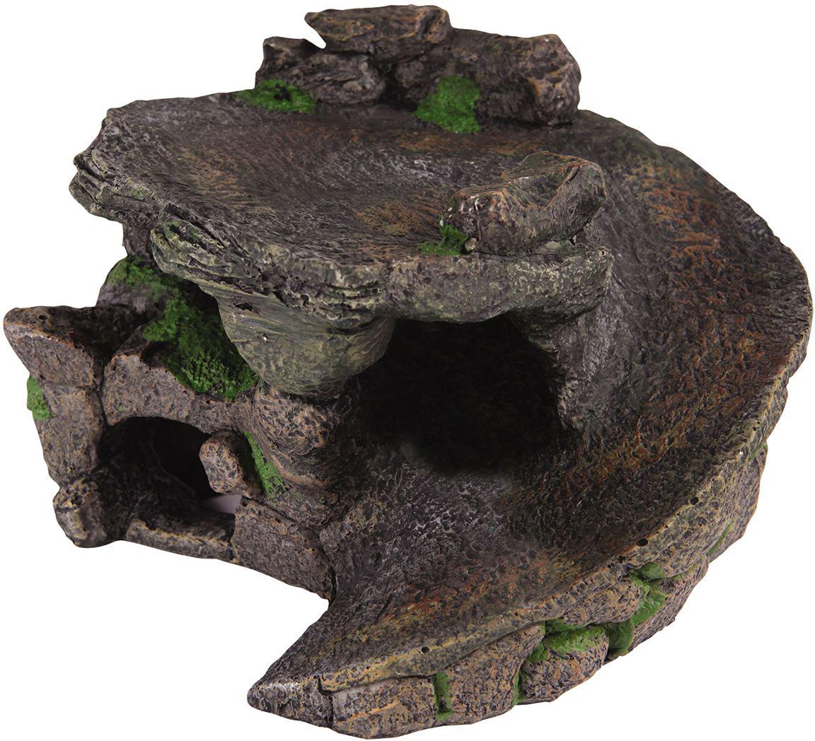 Аквадекор для черепах Dezzie Убежище, 23х22,5х14 см5602334Для многих водных черепах появления грота-островка в жилище является огромной радостью и необходимостью. Водные черепахи нуждаются в обогреваемом участке суши, который позвояет им отдохнуть, погреться и набраться сил для водных путешествий.