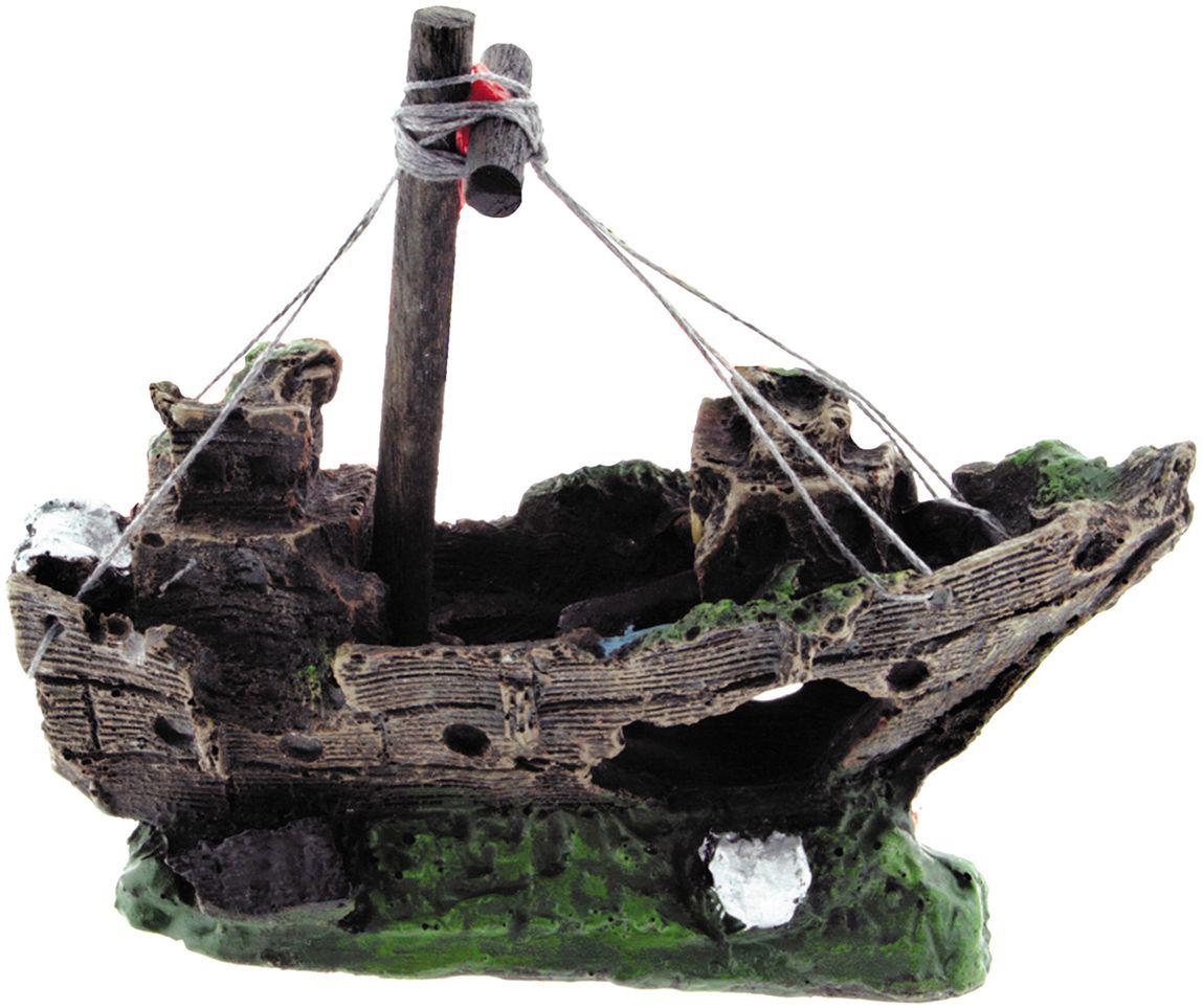 Аквадекор Dezzie Лодка. Креветка, 15х6х13 см5626038Грот в виде затонувшей лодки - настоящая находка для обитателей аквариума, которые в восторге от укромных мест. Такой аквадекор всегда будет привлекать внимание в доме, создавая таинственную и неповторимую атмосферу подводного мира.
