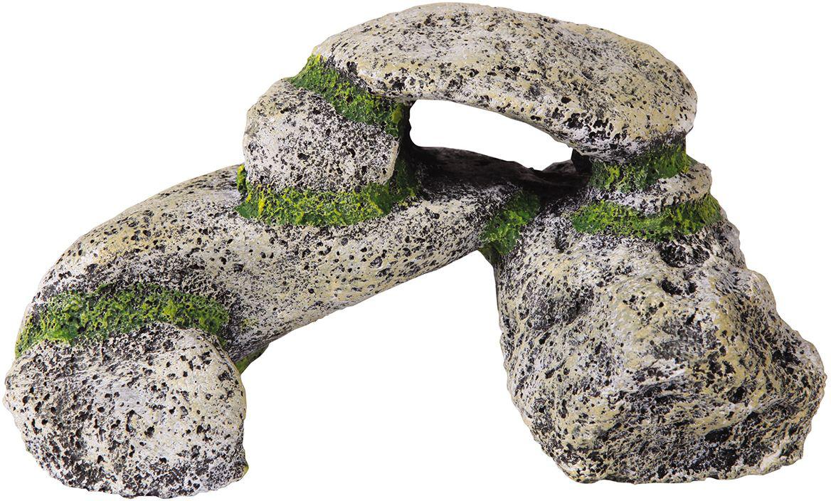 Аквадекор Dezzie Камень. Ворота, 17х9,4х8,5 см5626058Если вы содержите рыб из каменистых водоёмов, то безусловное требование к их аквариумам – это наличие в них сооружений из камней. Искусственные камни Dezzie изготовлены из прочных, нетоксичных материалов, их окраска устойчива ко времени, они не крошатся, да и чистить их очень легко. Кроме того, их вес незначителен, что уменьшает нагрузку на стекло аквариума. Искусственные камни Dezzie созданы с учетом требований профессиональных аквариумистов, поэтому безопасны даже для самых беспокойных обитателей аквариума.