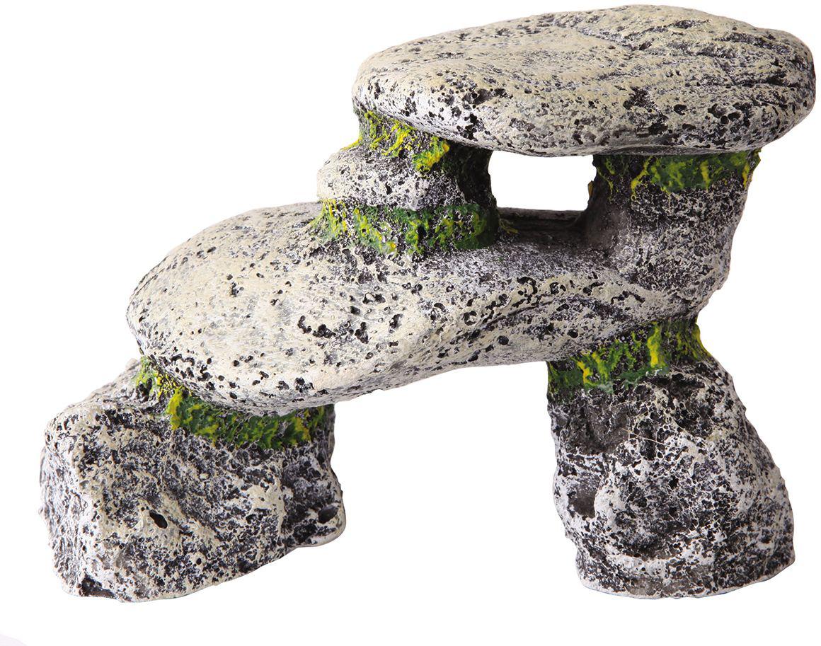 Аквадекор Dezzie Камень. Обзор, 13,5х6,5х9,5 см5626066Если вы содержите рыб из каменистых водоёмов, то безусловное требование к их аквариумам – это наличие в них сооружений из камней. Искусственные камни Dezzie изготовлены из прочных, нетоксичных материалов, их окраска устойчива ко времени, они не крошатся, да и чистить их очень легко. Кроме того, их вес незначителен, что уменьшает нагрузку на стекло аквариума. Искусственные камни Dezzie созданы с учетом требований профессиональных аквариумистов, поэтому безопасны даже для самых беспокойных обитателей аквариума.