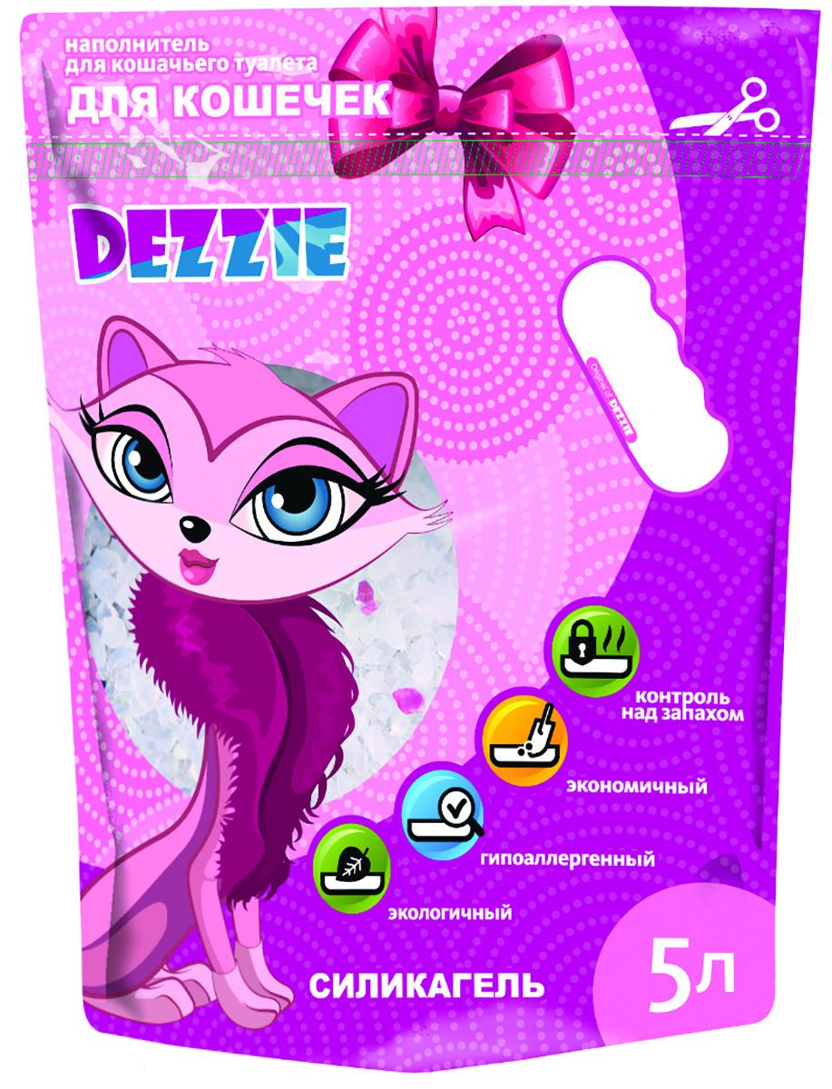 """Наполнитель для кошачьего туалета Dezzie """"Для кошечек"""", силикагелевый, 5 л 5639002"""