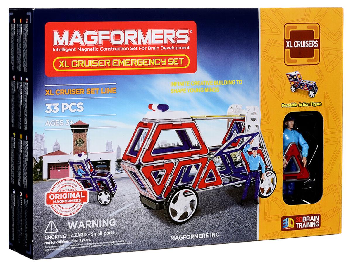 Magformers Магнитный конструктор XL Crusers Службы спасения63079/706002Магнитный конструктор Magformers XL Crusers. Служба спасения не содержит мелких деталей, что делает его абсолютно безопасным. Все детали выполнены в красно-синем и желтом цвете, с необычной серебристой окантовкой. Конструктор подходит детям с трех лет. В комплект входит 33 детали - это квадраты, треугольники, ромбы. Для большей реалистичности, в набор добавлены специальные аксессуары: сирена спасательной службы, которая при нажатии на кнопку на ней издает свето-звуковой сигнал, лестница, и подвижная фигурка спасателя в униформе. Ну, и конечно же, в комплекте есть колёса, которые позволят любой машине быстро добраться до того места, где её очень ждут. Каждый может почувствовать себя модельером и придумать необычный транспорт. Набор идеально для этого подойдет - все детали разноцветные и их количества абсолютно точно хватит для того, чтобы проявить фантазию. Все детали этого набора совместимы с другими наборами Magformers, что позволяет делать очень...