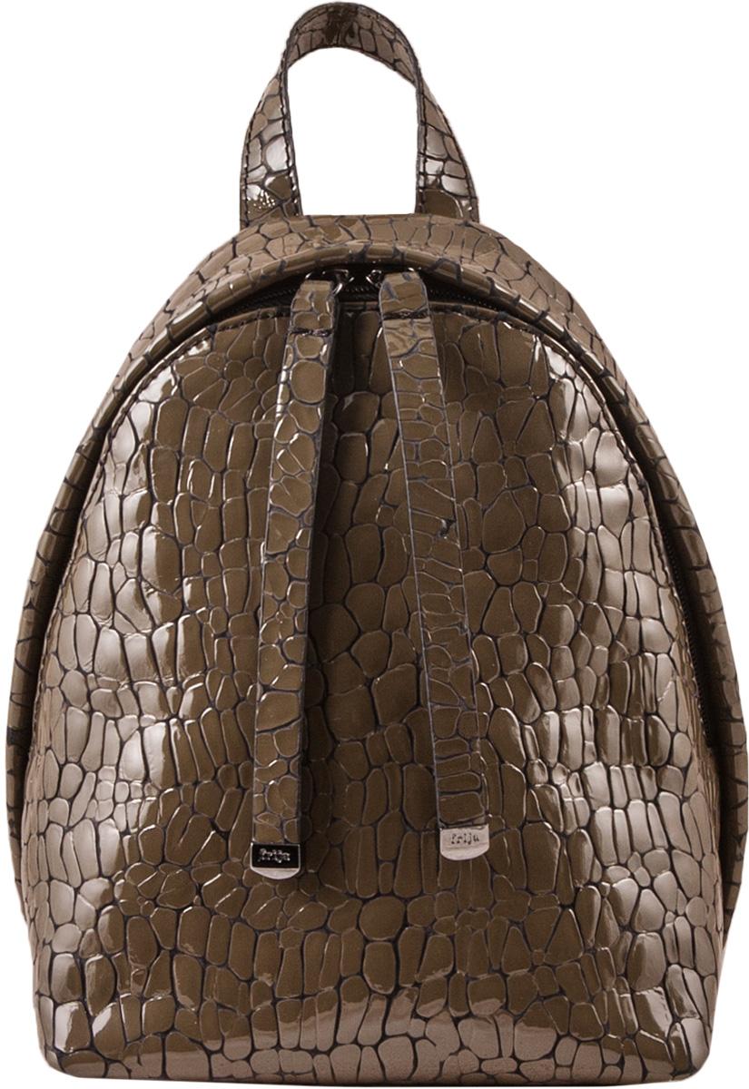 Рюкзак женский Frija, цвет: хаки. 21-0347-BD21-0347-BDМодная сумка-рюкзак выполнен из натуральной кожи достойно дополнит строгий или повседневный образ. Благородные цвета, удобство в ношении, вместительность – главные преимущества модели.один вместительный отдел внутри которого карман на молнии. Сумка-рюкзак закрывается закрывается на двустороннюю молнию, носится в руке или одевается на плечи. Хорошо держит форму.