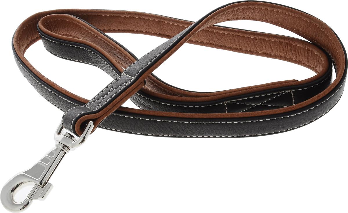 Поводок для собак CoLLaR SOFT, цвет: черный, коричневый, ширина 2,5 см, длина 1,22 м7258Поводок для собак CoLLaR SOFT изготовлен из натуральной кожи и снабжен металлическим карабином. Поводок отличается не только исключительной надежностью и удобством, но и оригинальным дизайном. Он идеально подойдет для активных собак, для прогулок на природе и охоты. Поводок - необходимый аксессуар для собаки. Ведь в опасных ситуациях именно он способен спасти жизнь вашему любимому питомцу. Ширина поводка: 2,5 см. Длина поводка: 1,22 м.