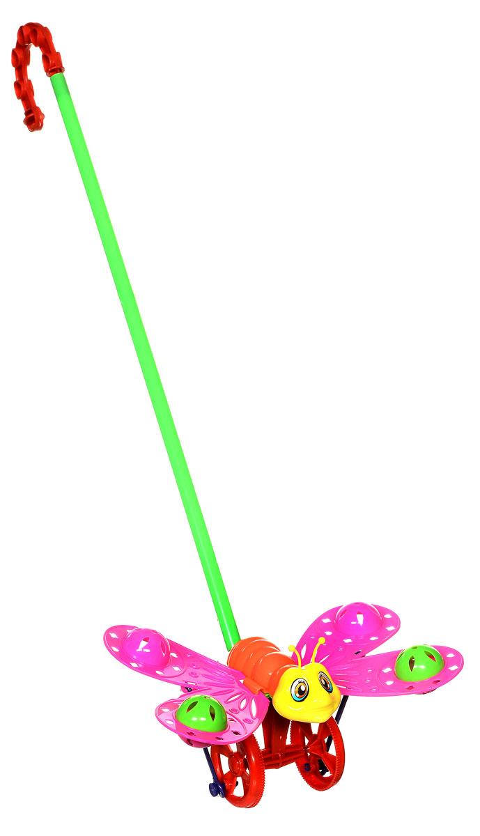 Amico Игрушка-каталка Бабочка цвет розовый оранжевый