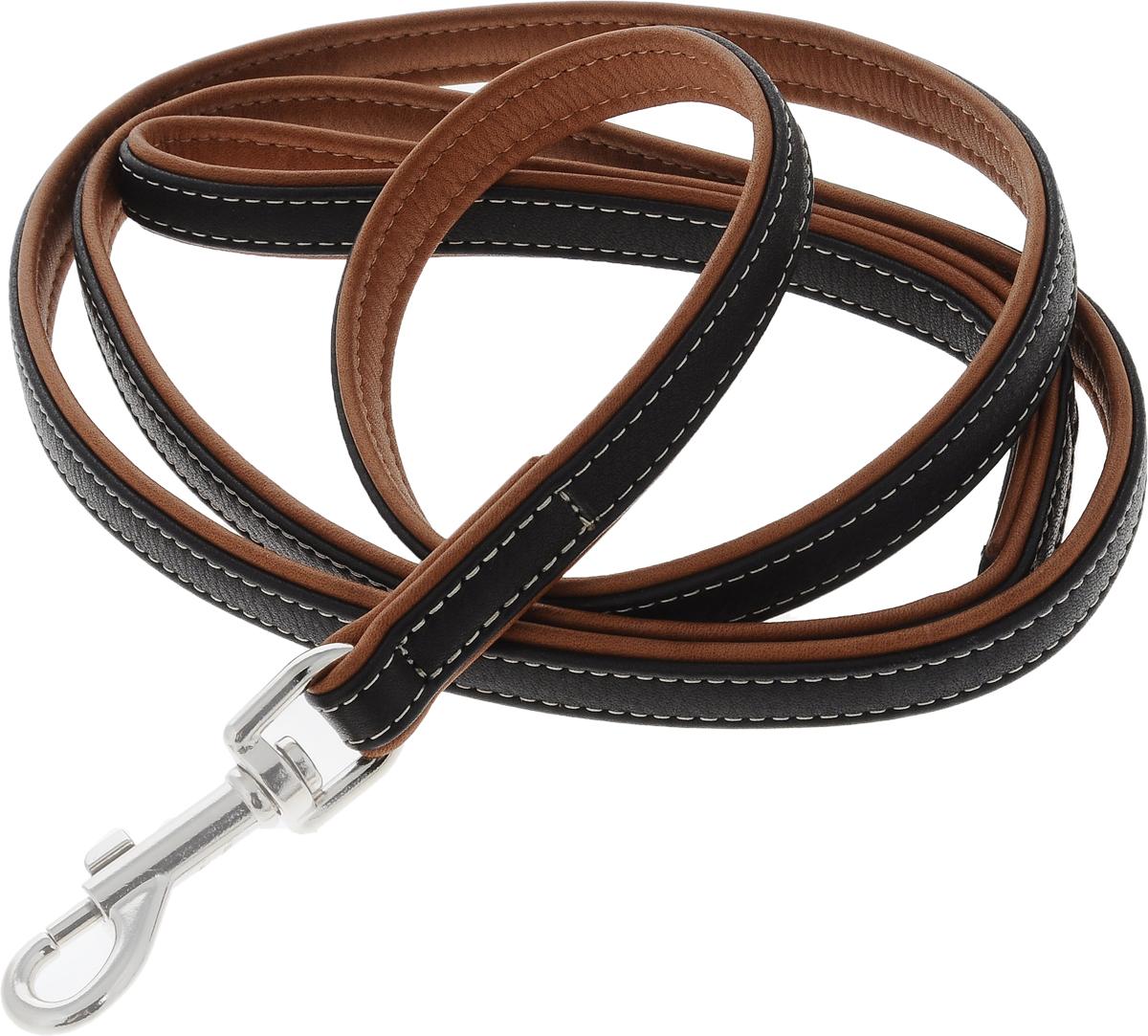 Поводок для собак CoLLaR SOFT, цвет: черный, коричневый, ширина 1,8 см, длина 1,83 м2217Поводок для собак CoLLaR SOFT изготовлен из натуральной кожи и снабжен металлическим карабином. Поводок отличается не только исключительной надежностью и удобством, но и оригинальным дизайном. Он идеально подойдет для активных собак, для прогулок на природе и охоты. Поводок - необходимый аксессуар для собаки. Ведь в опасных ситуациях именно он способен спасти жизнь вашему любимому питомцу. Ширина поводка: 1,8 см. Длина поводка: 1,83 м.