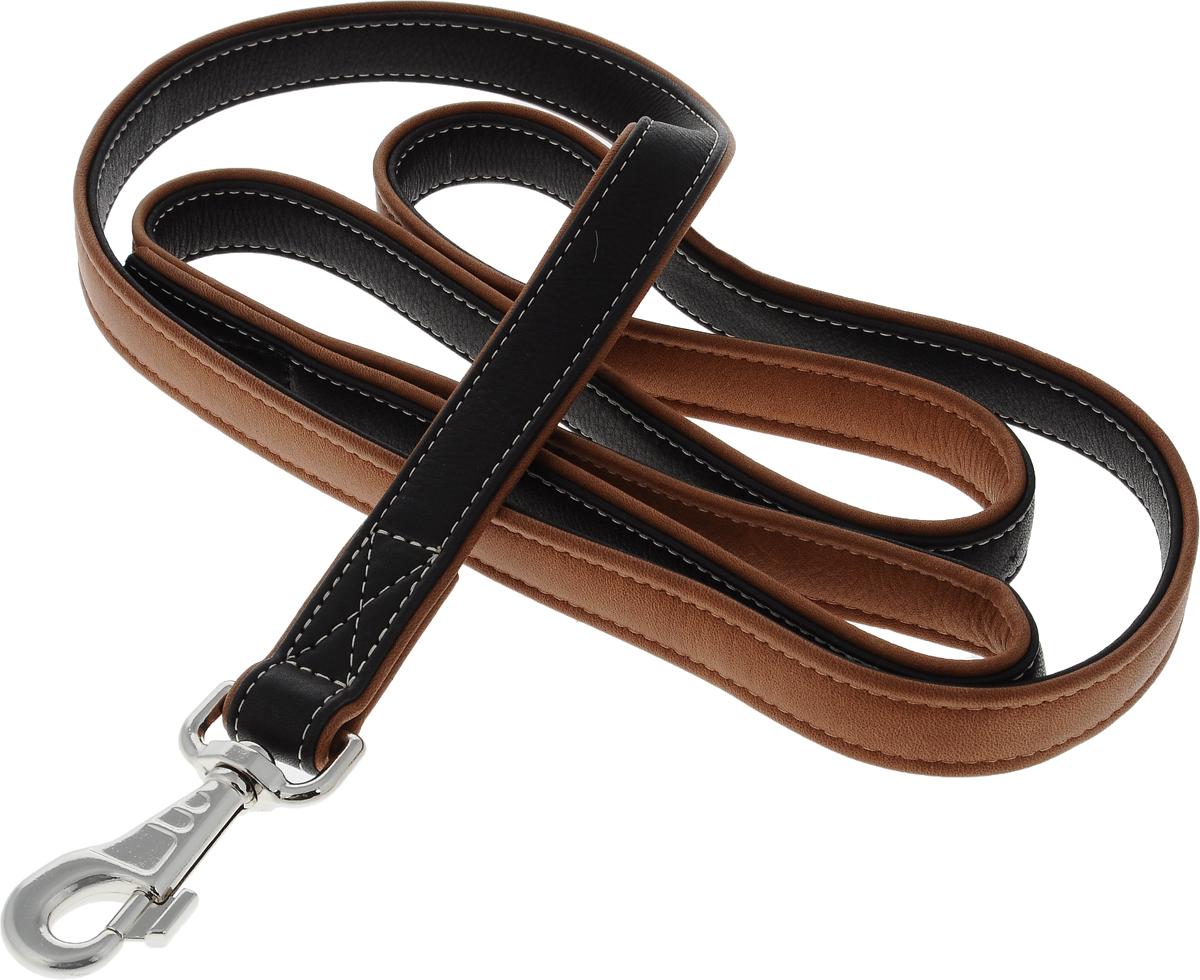 Поводок для собак CoLLaR SOFT, цвет: черный, коричневый, ширина 2,5 см, длина 1,83 м2218Поводок для собак CoLLaR SOFT изготовлен из натуральной кожи и снабжен металлическим карабином. Поводок отличается не только исключительной надежностью и удобством, но и оригинальным дизайном. Он идеально подойдет для активных собак, для прогулок на природе и охоты. Поводок - необходимый аксессуар для собаки. Ведь в опасных ситуациях именно он способен спасти жизнь вашему любимому питомцу. Ширина поводка: 2,5 см. Длина поводка: 1,83 м.