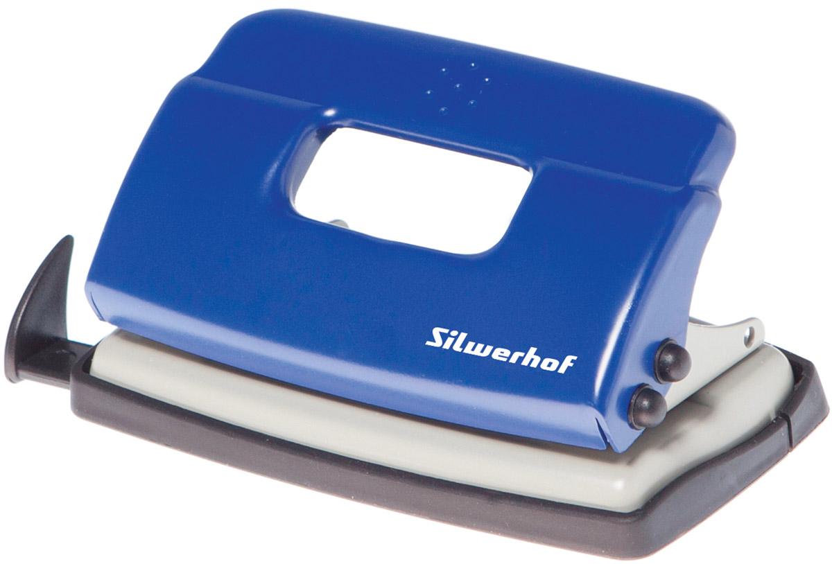 Silwerhof Дырокол Debut на 10 листов цвет синий