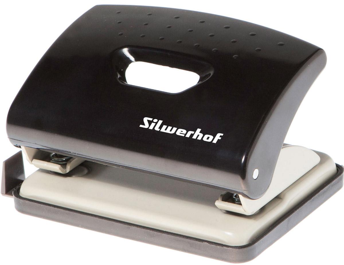 Silwerhof Дырокол Primer на 16 листов цвет черный391034-01Надежный дырокол Silwerhof Primer - это незаменимый офисный инструмент для перфорации бумаги и картона. Металлический дырокол с нескользящим основанием предназначен для одновременной перфорации до 16 листов бумаги 80г/м. Для удобства оснащен выдвижной линейкой с разметкой для документов различных форматов. Также у данного атрибута пробивной механизм из легированной стали, нажимная часть из ударопрочного пластика и пластиковый поддон для сбора конфетти с функцией частичного открывания.