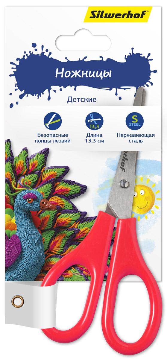 Silwerhof Ножницы детские Пластилиновая коллекция цвет коралловый 13,3 см