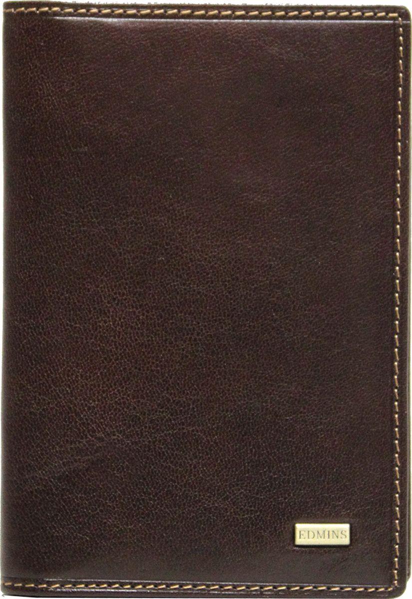 Обложка для документов Edmins, цвет: коричневый. 1896 ML ED1896 ML ED brownОбложка для документов Edmins выполнена из натуральной кожи с естественной фактурой и оформлена металлическим элементом с символикой бренда и контрастной отстрочкой. Подкладка изготовлена из полиэстера. Изделие раскладывается пополам. Внутри размещены несколько накладных кармашков из прозрачного ПВХ, накладной карман с окошком и угловой кармашек для карточек. В коллекциях кожгалантереи Edmins удачно сочетаются итальянская классика и шведский прагматизм, новаторство молодых дизайнеров и работы именитых мастеров, строгая цветовая гамма и смелые эксперименты с цветом. Изделия Edmins, разработанные в Италии, отличает высокое качество кожи, прекрасная износостойкость и актуальность коллекций. Изделие упаковано в фирменную коробку.