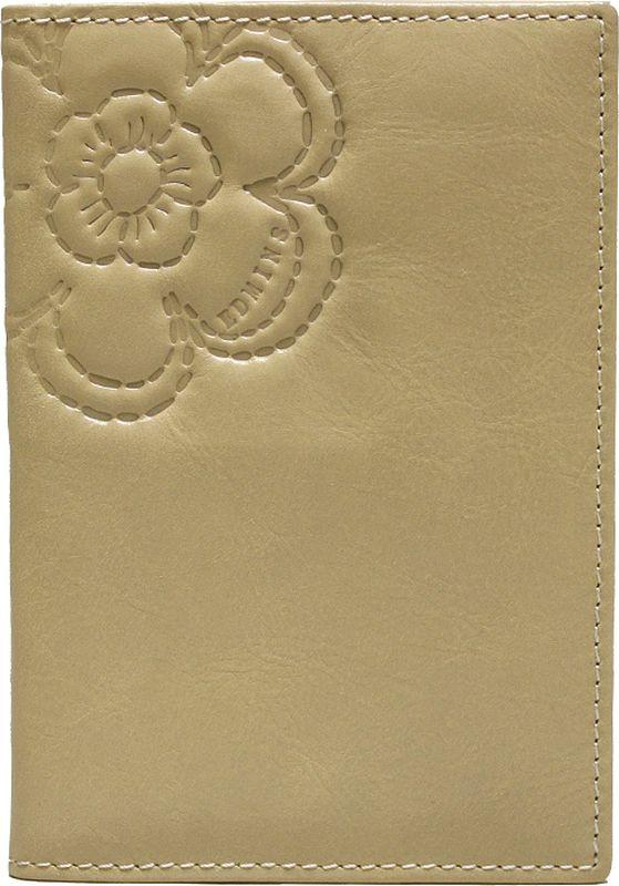 Обложка для паспорта женская Edmins, цвет: бежевый. 13843 NLK ED FL13843 NLK ED FL beigeОбложка для паспорта Edmins выполнена из натуральной кожи с гладкой фактурой и оформлена тиснением в виде цветка и символики бренда. Подкладка изготовлена из полиэстера. Изделие раскладывается пополам. Внутри размещены два накладных кармашка из кожи. В коллекциях кожгалантереи Edmins удачно сочетаются итальянская классика и шведский прагматизм, новаторство молодых дизайнеров и работы именитых мастеров, строгая цветовая гамма и смелые эксперименты с цветом. Изделия Edmins, разработанные в Италии, отличает высокое качество кожи, прекрасная износостойкость и актуальность коллекций. Изделие упаковано в фирменную коробку.
