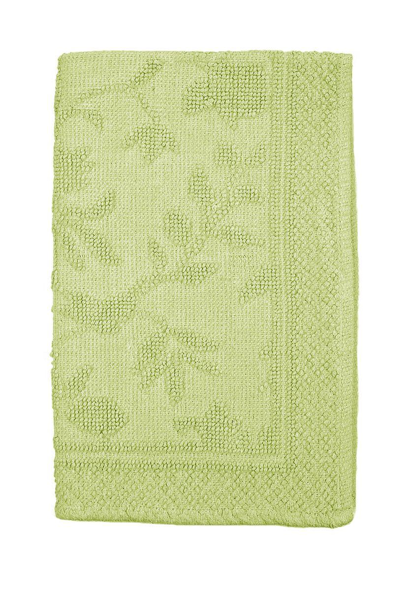Коврик прикроватный Arloni Кармен, цвет: зеленый, 60 х 90 см1207.5