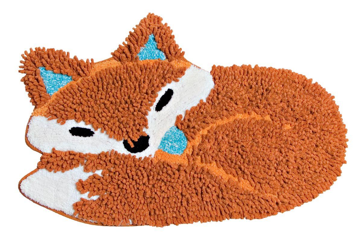 Коврик прикроватный Arloni Лиса, цвет: коричнево-красный, 50 х 80 см1209.4