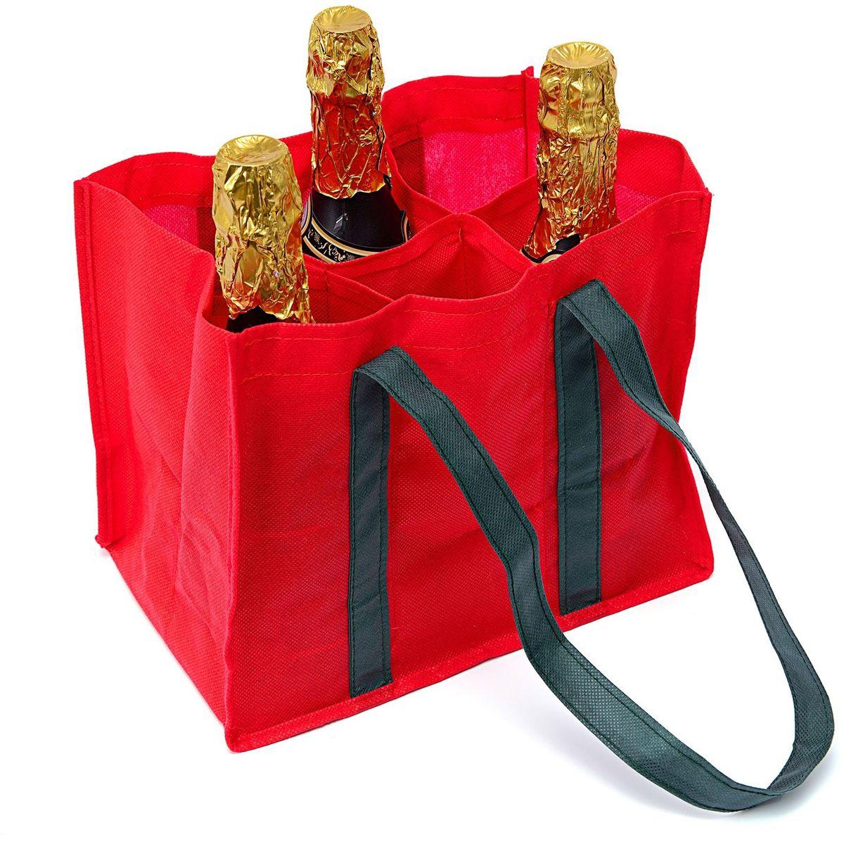 Сумка для переноски бутылок Homsu New Year, 30х25х20 см, цвет: красныйHOM-734Сумка для переноски бутылок - новинка на Российском рынке. Незаменимая вещь для походов в гости во время новогодних и рождественских каникул. Выполнена в традиционной новогодней расцветке. Размер изделия: 25х20х30см.