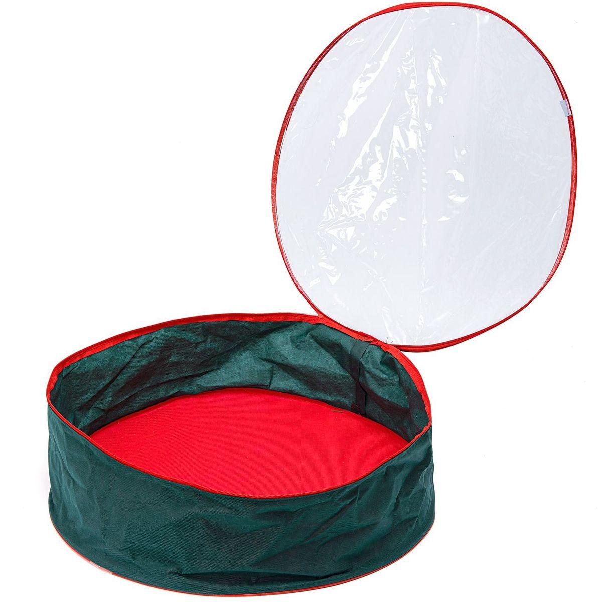 Кофр плоский Homsu New Year, 20х60 см, цвет: зеленыйHOM-736Круглый плоский органайзер на молнии с прозрачной крышкой из ПВХ, идеально подойдет для хранения новогодней мишуры и гирлянд. Выполнен в традиционной новогодней расцветке. Размер изделия: 20х60х10см.