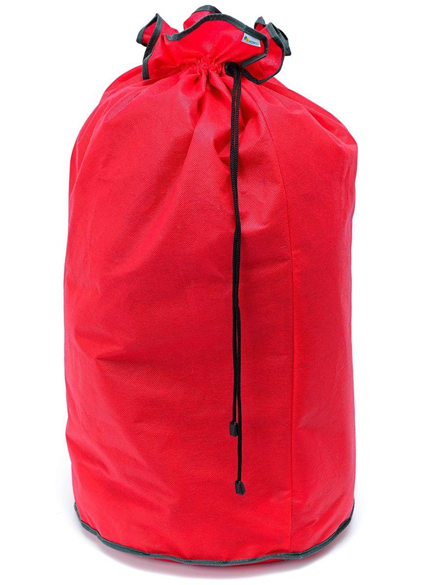 Большой мешок Homsu New Year, 40х40х80 см, цвет: красныйHOM-738Большой и вместительный мешок из спанбонда, оснащен удобными завязками. Выполнен в традиционной новогодней расцветке. Идеален для новогодних подарков. Размер изделия: 40х40х80см.