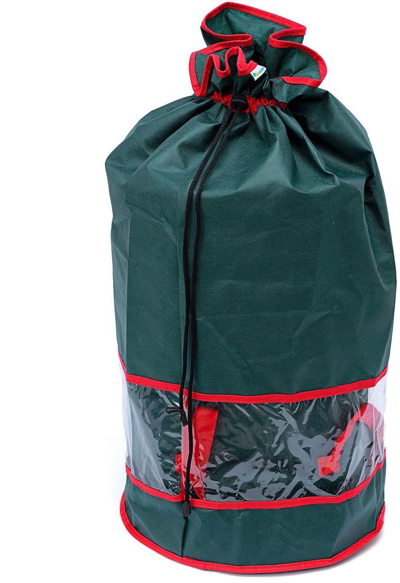 Мешок с окном Homsu New Year, 35х35х70 см, цвет: зеленыйHOM-739Мешок из спанбонда имеет окно из ПВХ, что позволяет видеть содержимое мешка, он также оснащен удобными завязками. Выполнен в традиционной новогодней расцветке. Размер изделия: 35х35х70см.