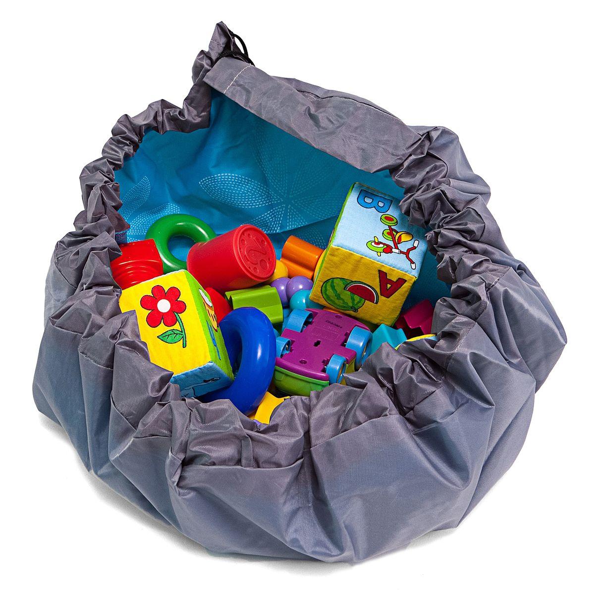 Сумка-коврик Homsu Лужайка, цвет: голубой, 80х80 смR-103Сумка-коврик это оригинальный способ хранения и транспортировки детских игрушек. В разложенном состоянии - это поле для игры, а когда нужно собрать игрушки, он затягивается на шнурок и превращается в удобную сумку. Выполнен из прочного, но мягкого канваса. Размер изделия: 80х80см