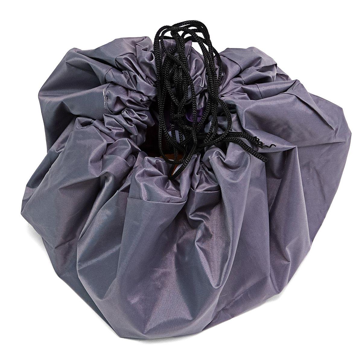 Сумка-коврик Homsu Лужайка, цвет: фиолетовый, 80х80 смR-106Сумка-коврик это оригинальный способ хранения и транспортировки детских игрушек. В разложенном состоянии - это поле для игры, а когда нужно собрать игрушки, он затягивается на шнурок и превращается в удобную сумку. Выполнен из прочного, но мягкого канваса. Размер изделия: 80х80см