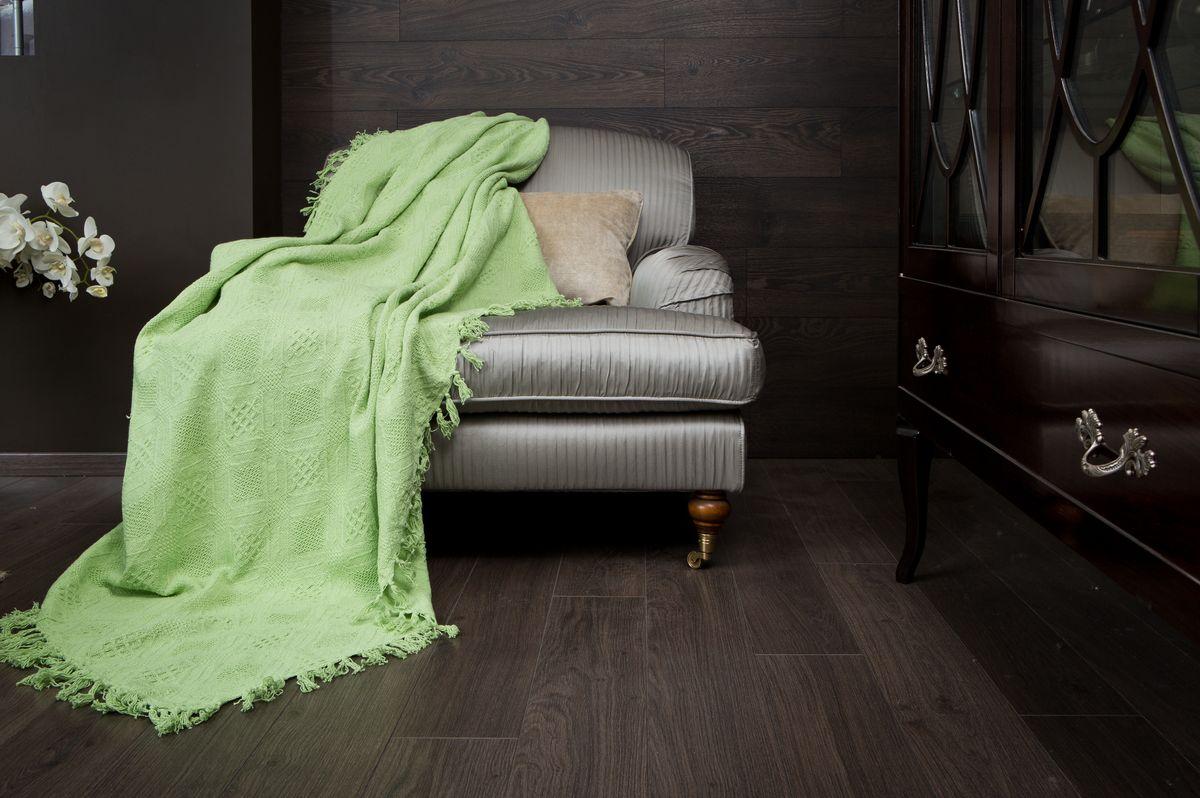 Покрывало Arloni Кокос, цвет: зеленый чай, 180 х 220 см2030.12