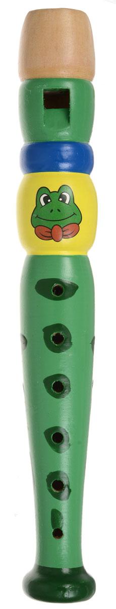Мир деревянных игрушек Дудочка ЛягушкаД216_синий желтый зеленыйДудочка Мир деревянных игрушек Лягушка великолепно подойдет для занятий музыкальным творчеством. Дудочка выполнена из высококачественного натурального дерева и окрашена стойкой, абсолютно безопасной яркой краской на водной основе. Инструмент зеленого цвета украшен изображением с забавной лягушкой. Дудочка способствует развитию у ребенка музыкальных способностей, цветового и звукового восприятия, мелкой моторики рук и воображения.
